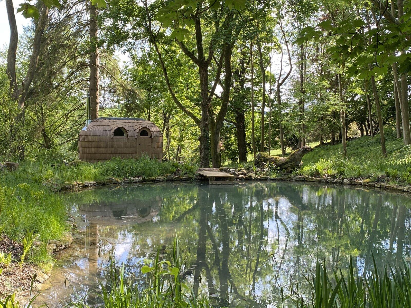 sauna en el bosque